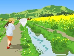 春の小川の情景